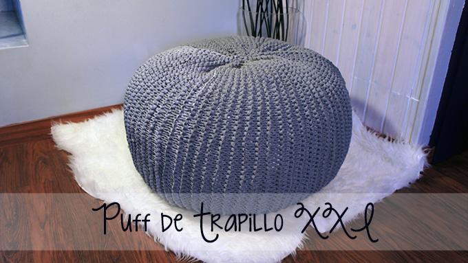 Puff de trapillo missdiy for Relleno puff ikea
