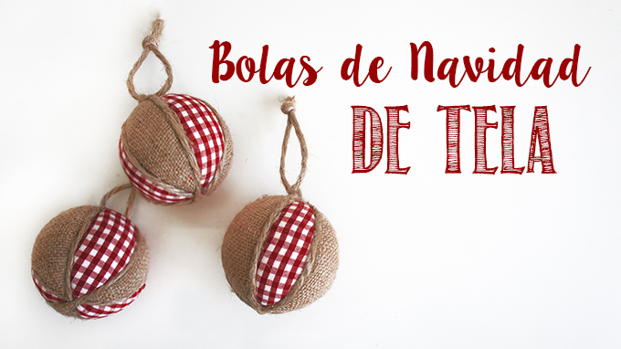 Adornos Navidenos Bolas De Navidad De Tela Missdiy - Adornos-de-navidad-con-tela