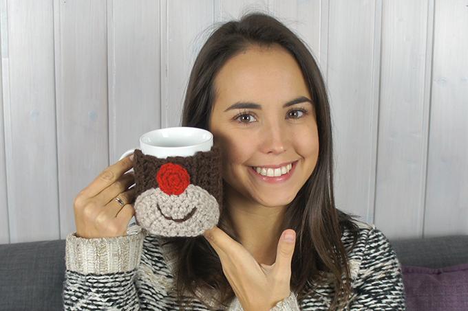 Funda para tazas de crochet