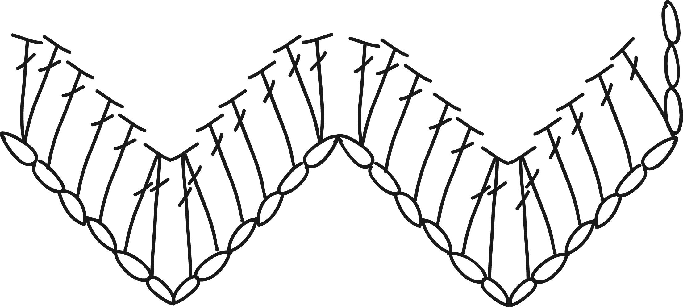 patrón trapillo en zig zag