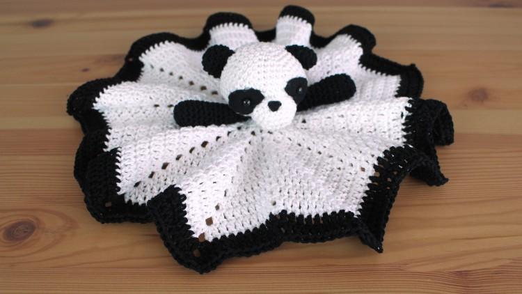 Manta de apego panda