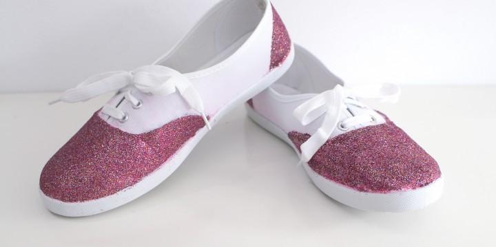 zapatillas con purpurina