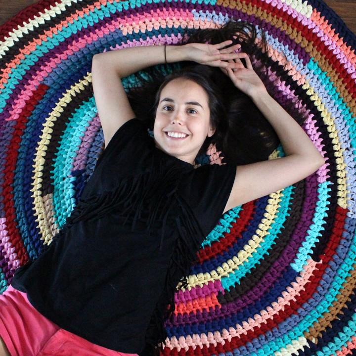 Maxi alfombra de trapillo