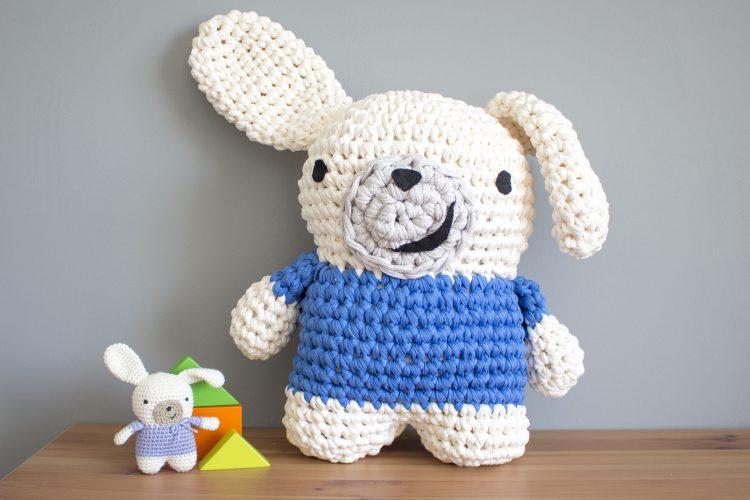 Amigurumi Xxl Patron : Conejo amigurumi XXL de trapillo - MissDIY