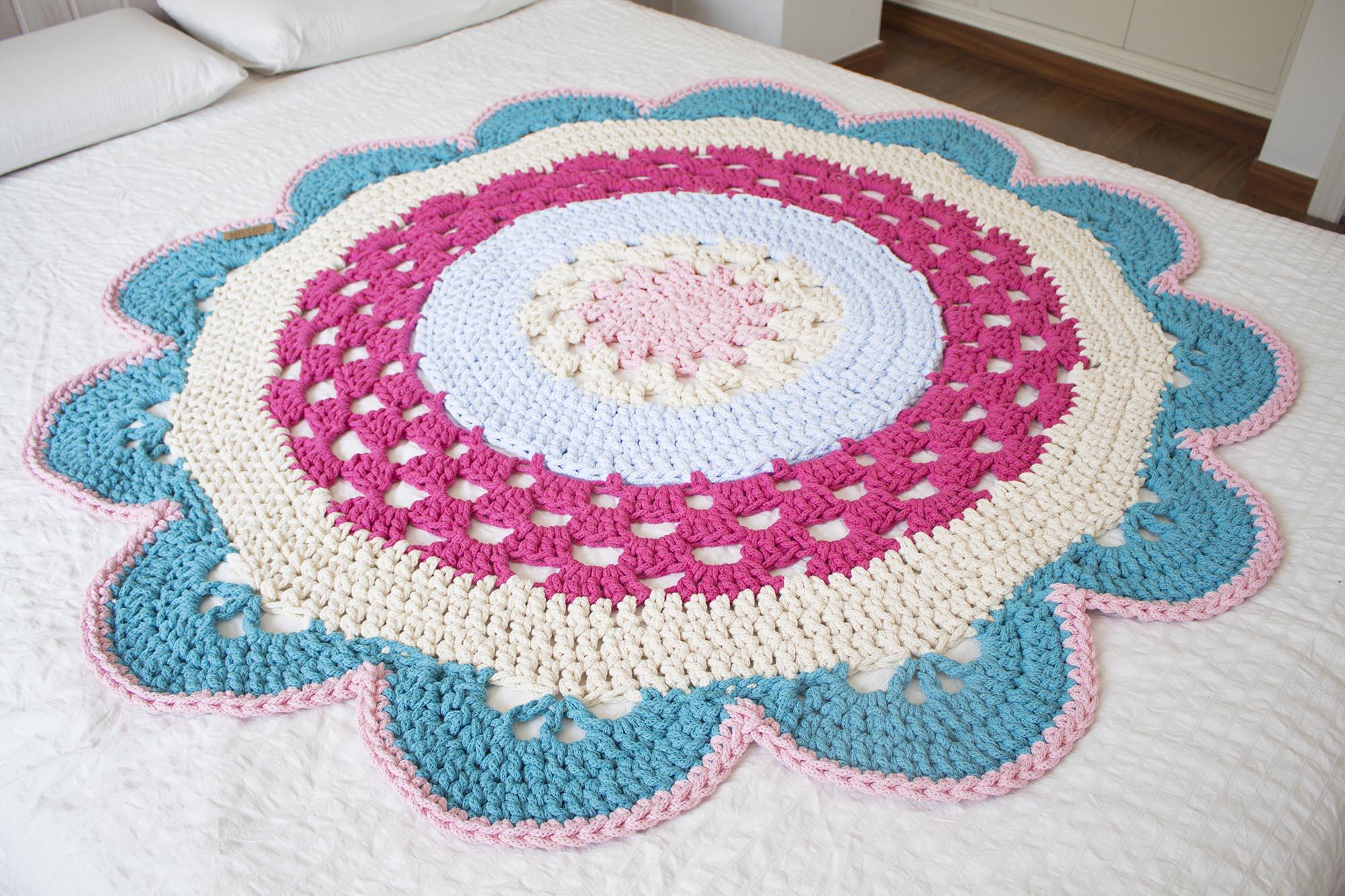 Alfombra redonda de crochet XL MissDIY